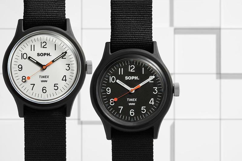 TIMEX x SOPH. x END. 三方聯名重塑經典 MK1 軍錶                                                                                                                                                                                        採用極簡約設計。                                                                                                                                                                                                                          編輯 : jer